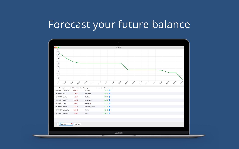 Moneyspire 2018, Finance Software Screenshot