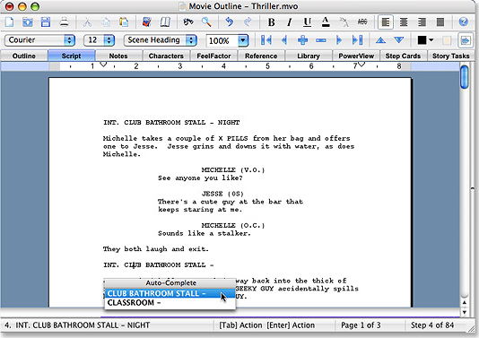 Movie Outline 3 Screenshot