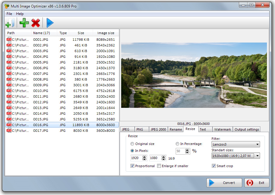 Multi Image Optimizer Screenshot