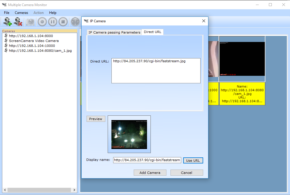 Multiple Camera Monitor, Security Software Screenshot