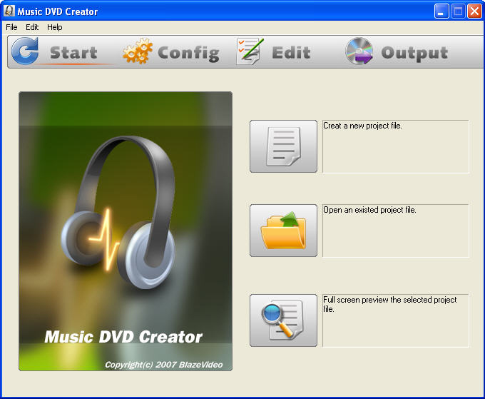 Music DVD Creator Screenshot