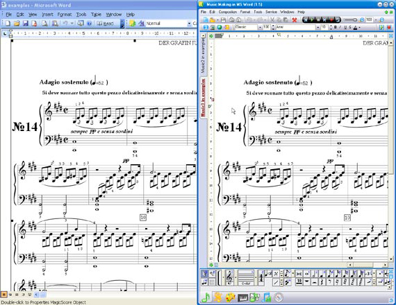 Music Making in MS Word, Recording Studio Software Screenshot