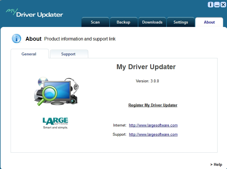 My Driver Updater, Software Utilities Screenshot