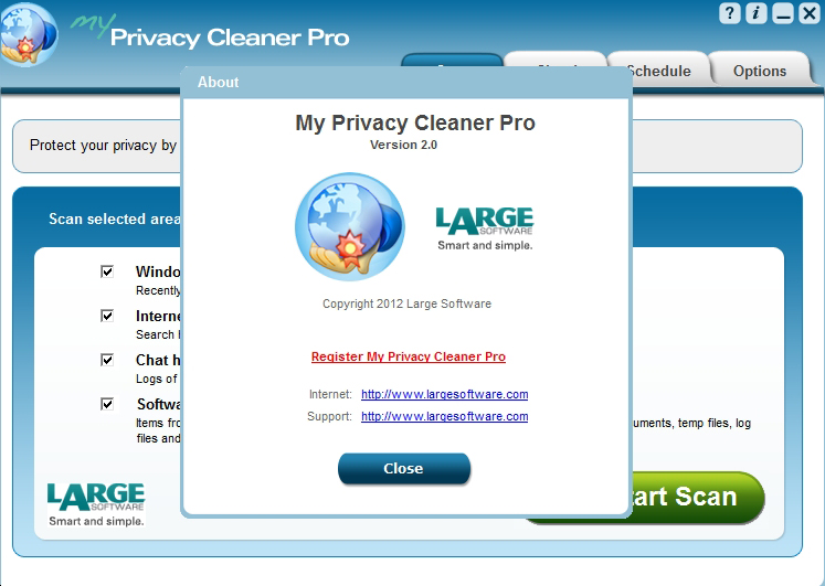 My Privacy Cleaner Pro Screenshot