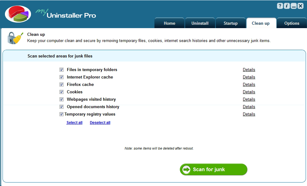 My Uninstaller Pro, Software Utilities Screenshot