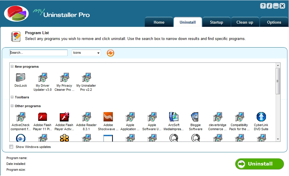 My Uninstaller Pro Screenshot