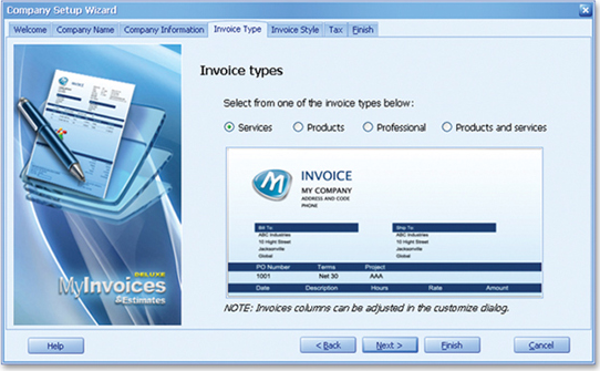myinvoices estimates deluxe 9 finance software for pc