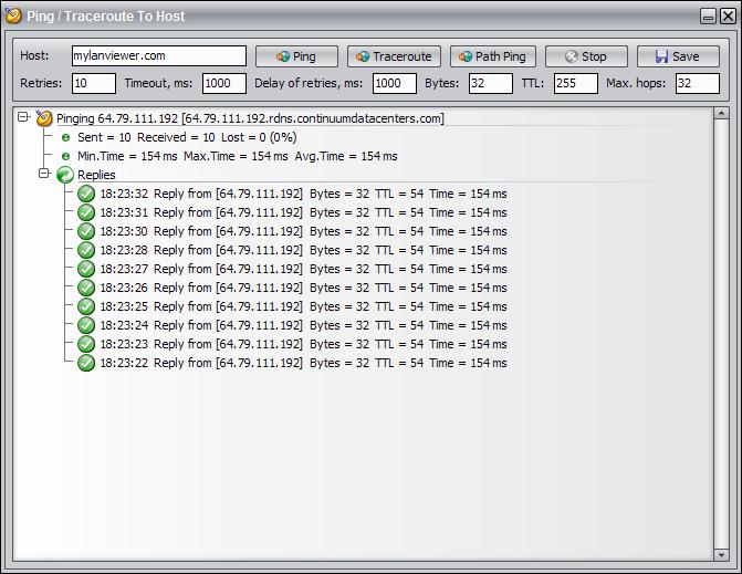 Internet Software, MyLanViewer Screenshot