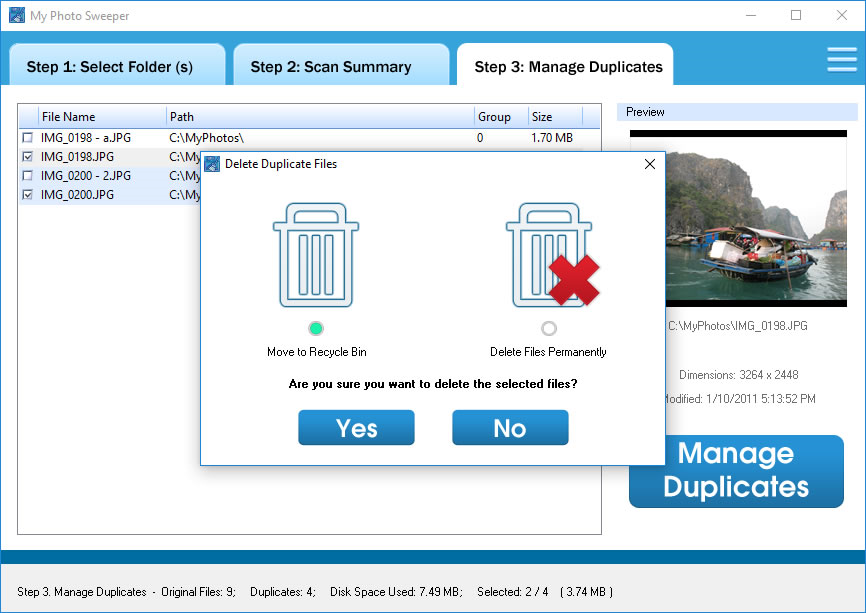 Software Utilities, MyPhotoSweeper Screenshot