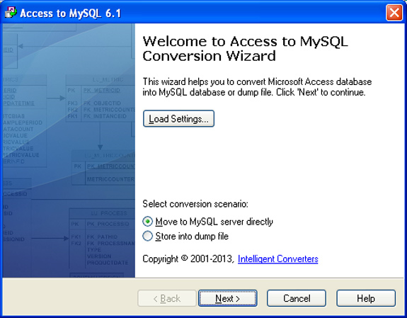 MySQL Migration Toolkit Screenshot