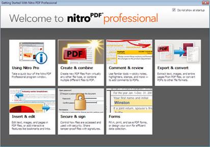 PDF Utilities Software, Nitro PDF Professional OCR Screenshot