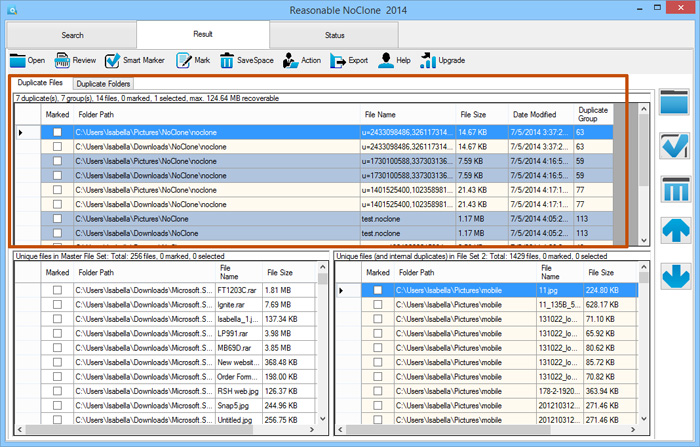 Duplicate Files Software, NoClone 2014 - Keep Your Computer Clean and Tidy PC Screenshot