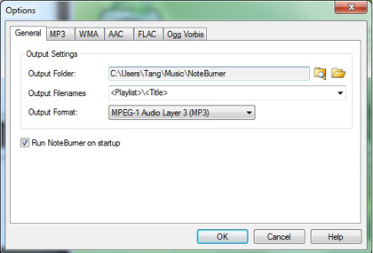 Noteburner Audio Converter, Audio Conversion Software Screenshot