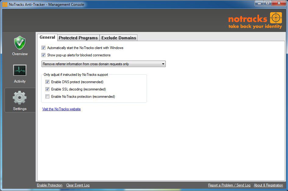 NoTracks Screenshot