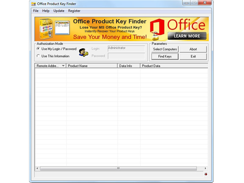 Office Product Key Finder Screenshot