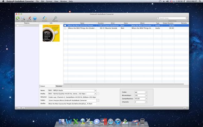 Ondesoft AudioBook Converter for Mac Screenshot