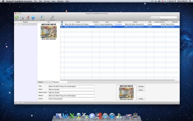 Ondesoft AudioBook Converter for Mac, Audio Software Screenshot