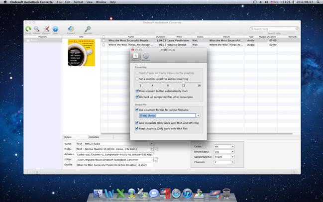 Audio Conversion Software Screenshot