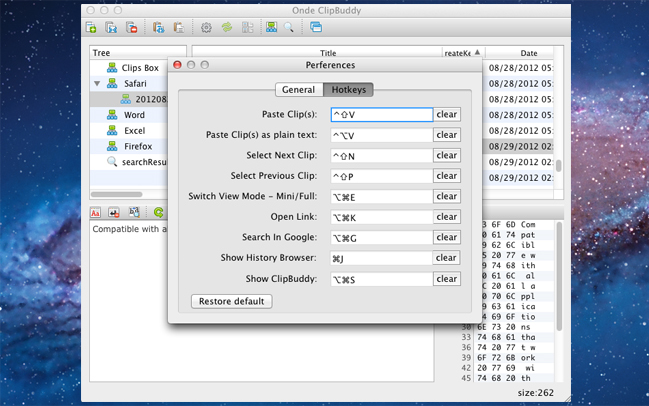 Clipboard Software, Ondesoft ClipBuddy for Mac Screenshot