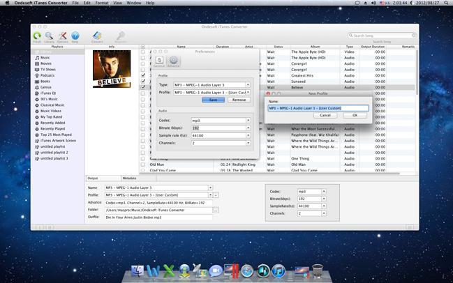 Ondesoft iTunes Converter, Audio Software Screenshot