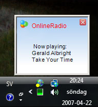 Online Radio Tuner, Audio Player Software Screenshot