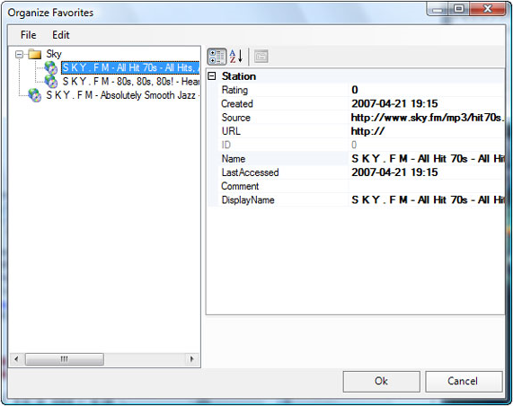 Audio Player Software, Online Radio Tuner Screenshot
