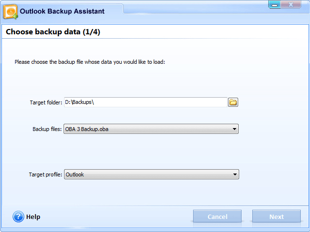 Security Software, Backup Email Software Screenshot