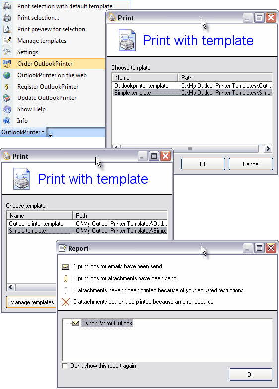 OutlookPrinter Screenshot