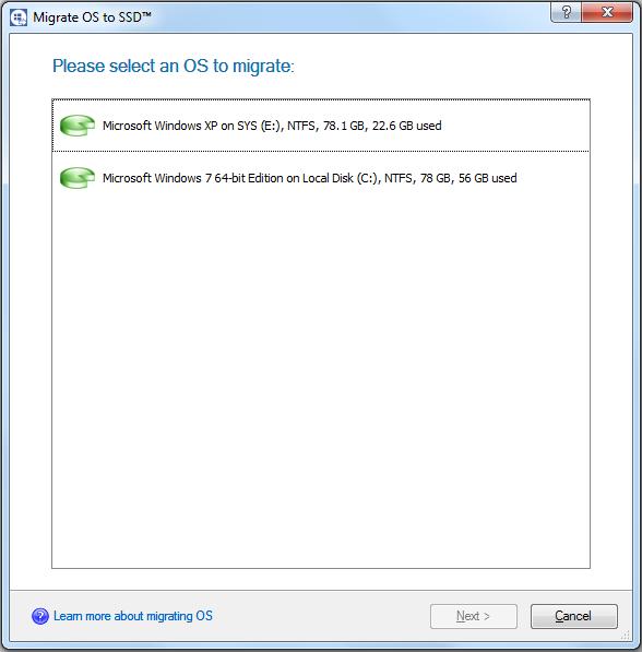 Security Software, Paragon Drive Copy 14 Compact Screenshot
