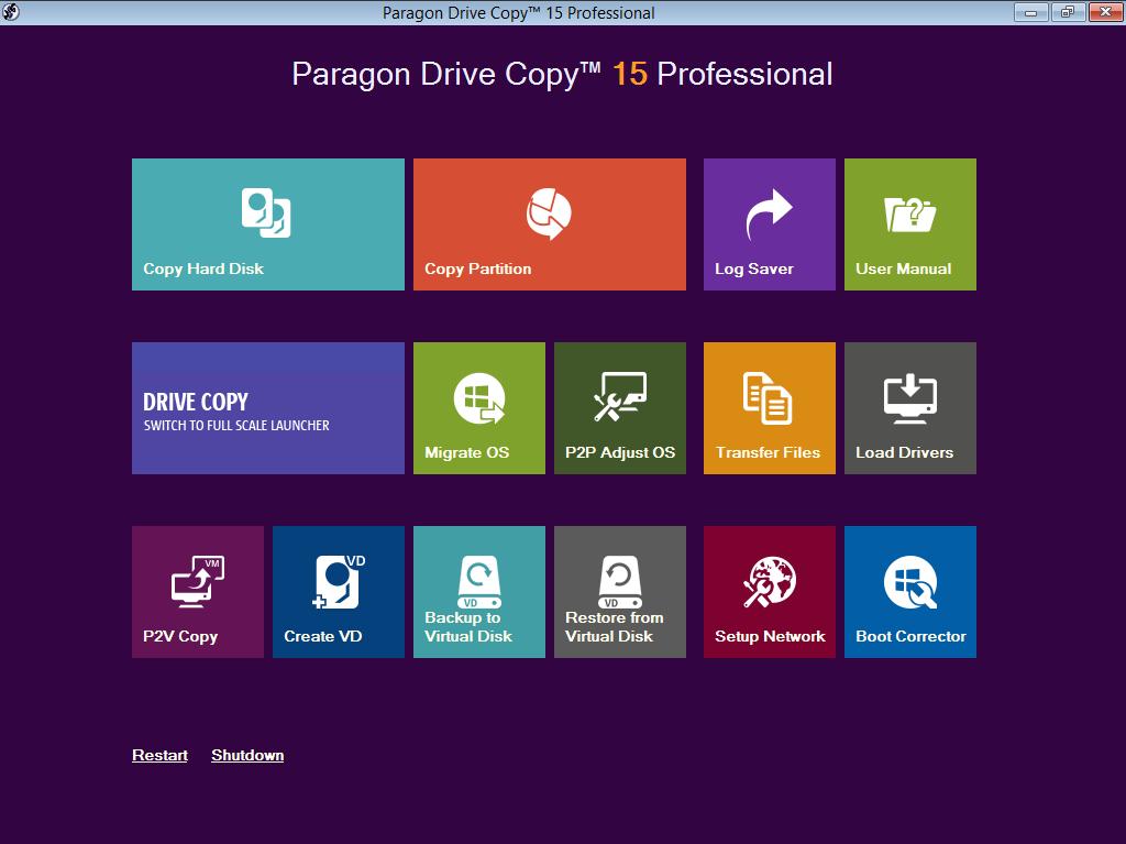 Paragon Drive Copy 15 Professional Screenshot 9