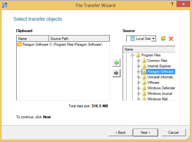 Hard Drive Software, Paragon Drive Copy 15 Professional Screenshot