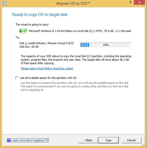 Paragon Drive Copy 15 Professional, Hard Drive Software Screenshot