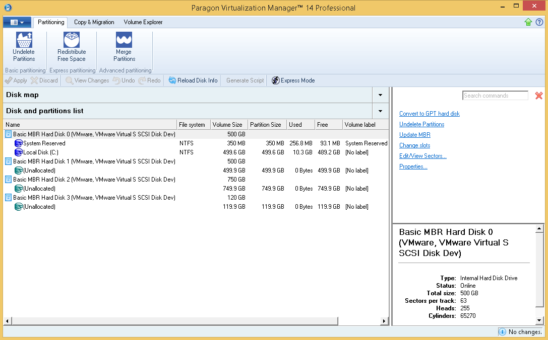Paragon Virtualization Manager 14 Professional Screenshot 13