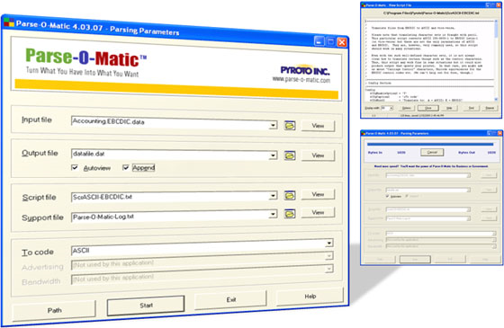 Parse-O-Matic Advanced Edition, File Management Software Screenshot