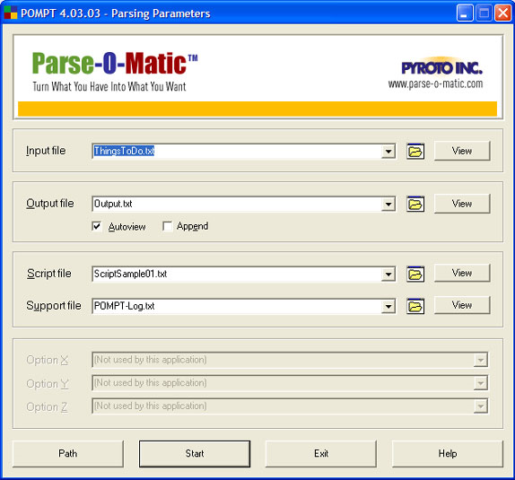 Parse-O-Matic Advanced Edition Screenshot