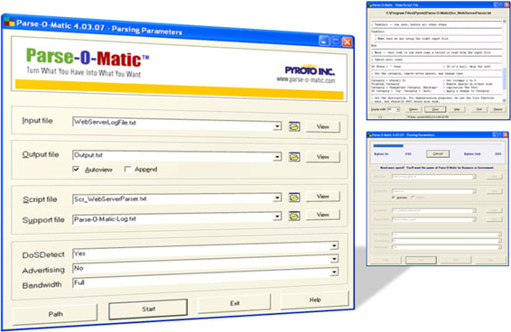 Parse-O-Matic Advanced Edition, Software Utilities Screenshot