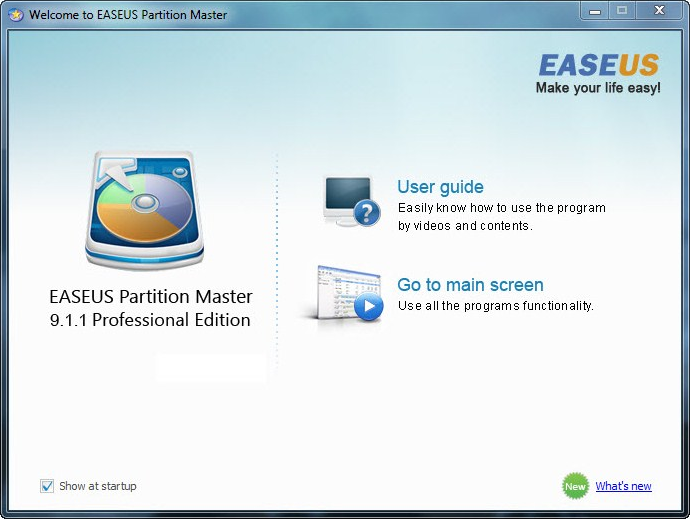 Partition Master Pro WinPE Screenshot