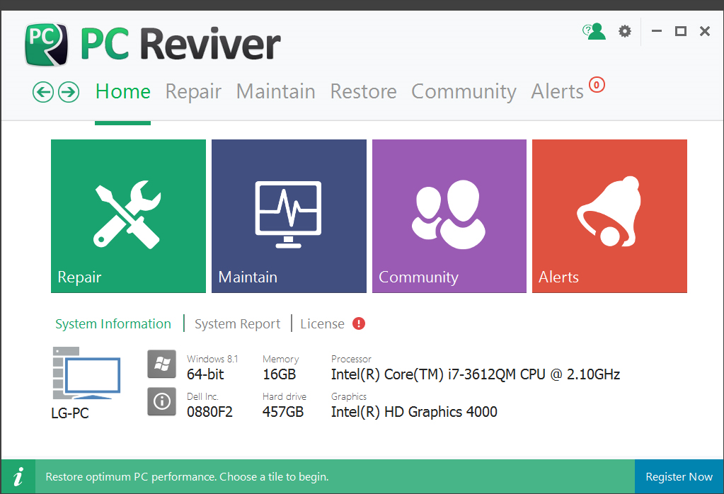 PC Reviver Screenshot