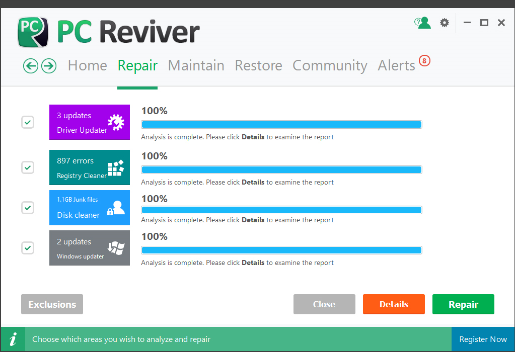 PC Reviver, Software Utilities Screenshot