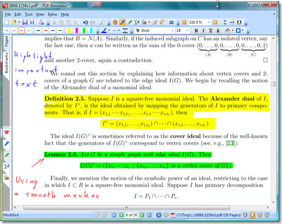 PDF Annotation Software Screenshot