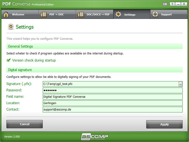 PDF Conversa, Business & Finance Software Screenshot