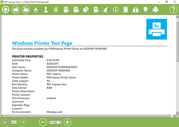 PDF Impress 10, Business & Finance Software Screenshot