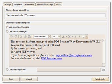 PDF Utilities Software, PDF Postman for Outlook Screenshot