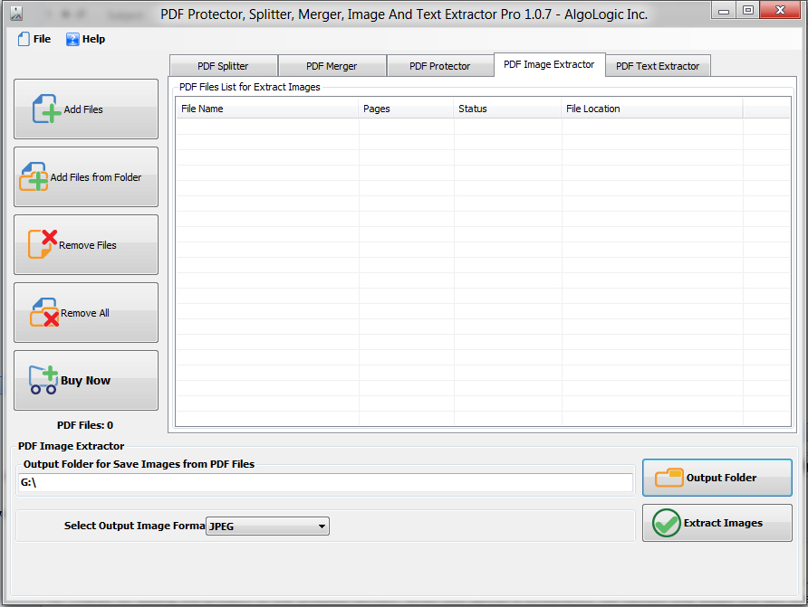 PDF Protector, Splitter and Merger, Business & Finance Software Screenshot