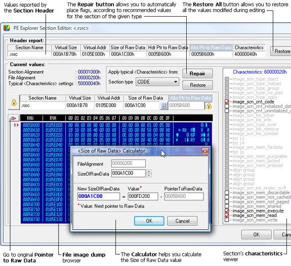 PE Explorer, Development Software Screenshot