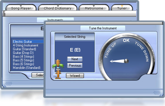 Personal Guitarist, Audio Software Screenshot