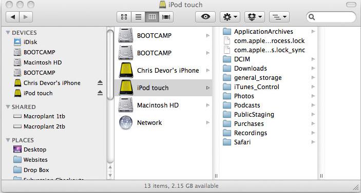 Phone Disk, iPod iPhone iTunes Software Screenshot