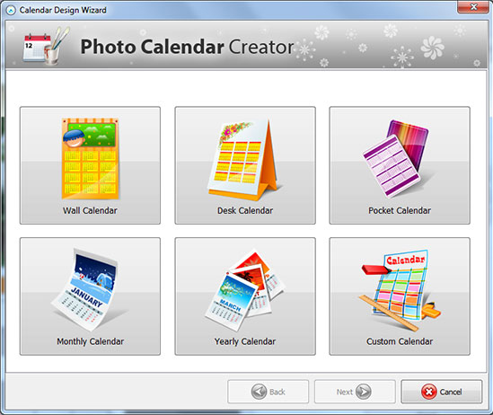 Calendar Design Software Download : Photo calendar creator pro graphic design software pc