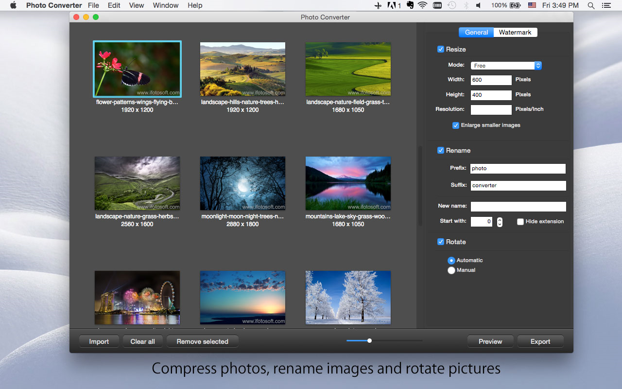 Photo Converter for Mac Screenshot