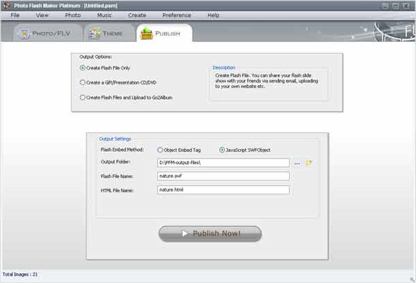 Photo Flash Maker Platinum + Photo DVD Maker Bundle, Design, Photo & Graphics Software Screenshot